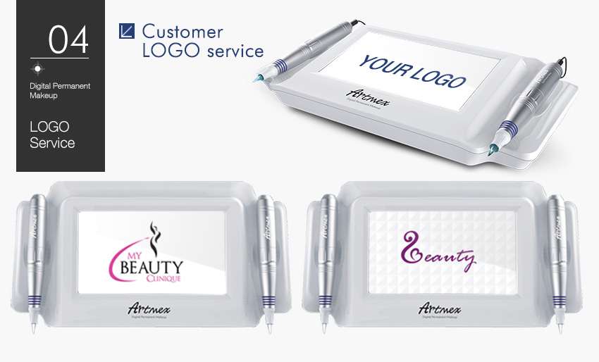 Permanent makeup machine logo
