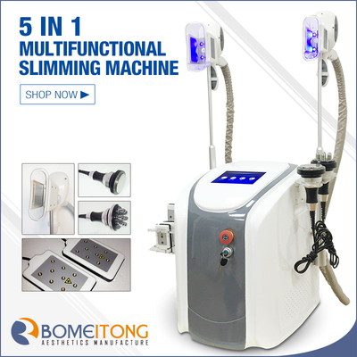 Freezing body fat machine 5in1 cryolipolysis cavitation rf lipo laser