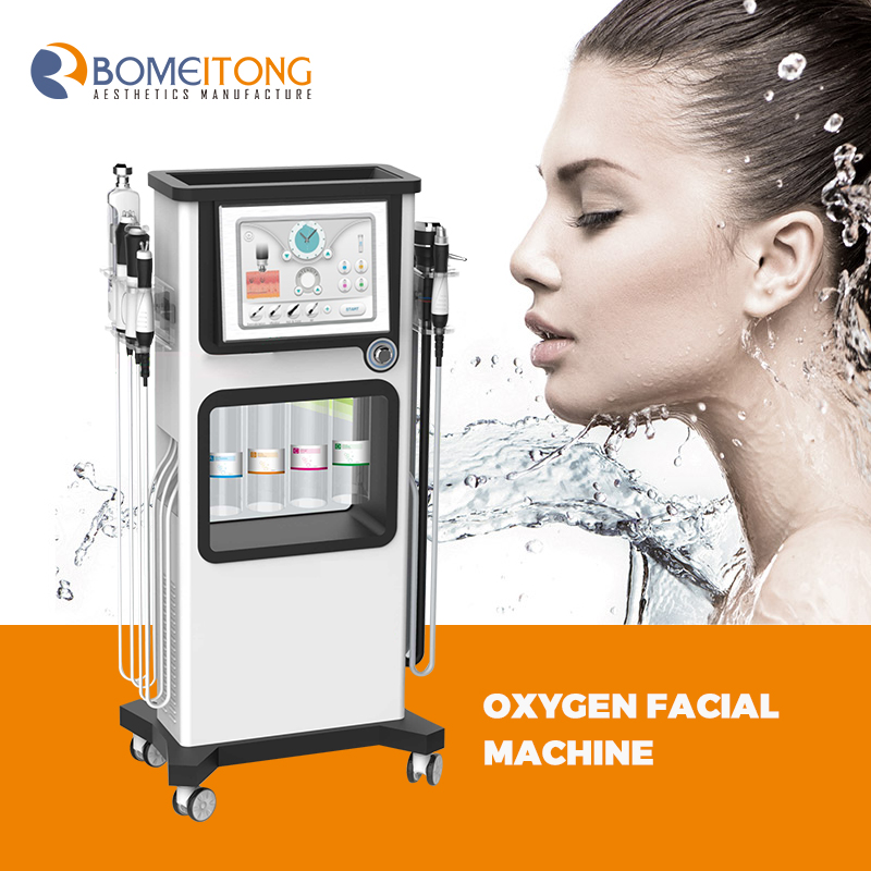Skin oxygen injector bubble skin tightening aqua facial radio frequency beauty water cleansing 7 in 1 h2o2 jet peel care newest