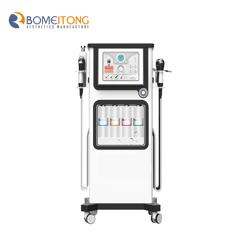 oxygen dome facial therapy h2o2 small skin cleaning machine Oxygen Bubble Water Demabrasion 7 in 1 aqua peel equipment